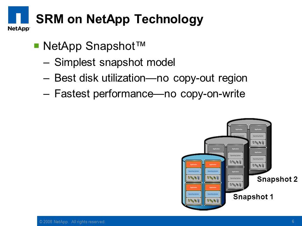 SRM on NetApp Technology