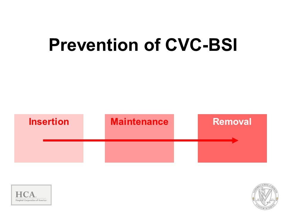 Prevention of CVC-BSI Insertion Maintenance Removal