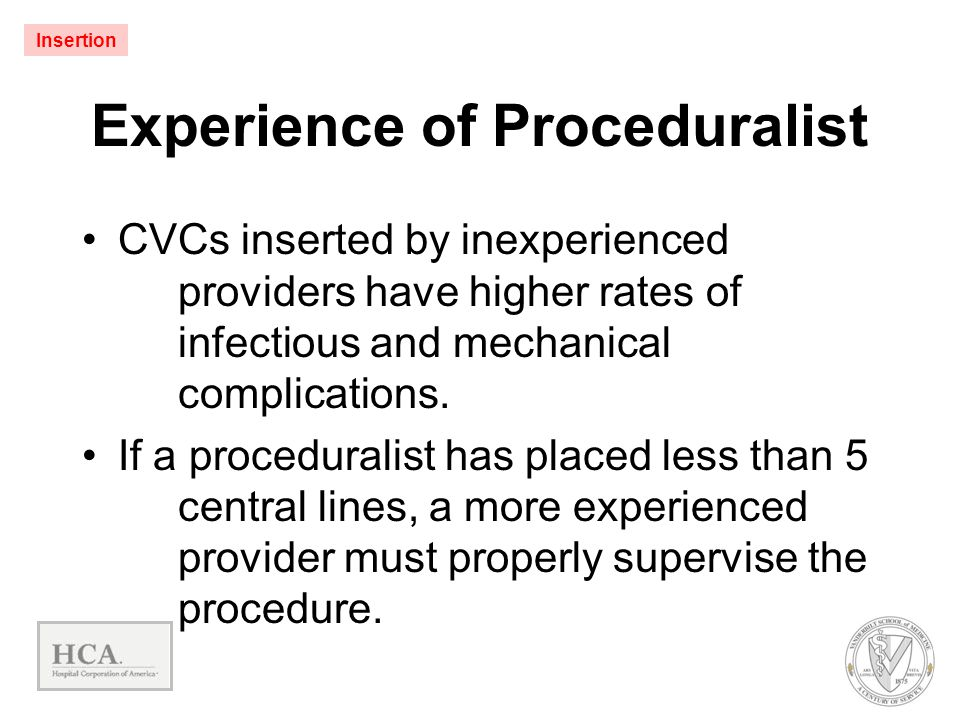 Experience of Proceduralist