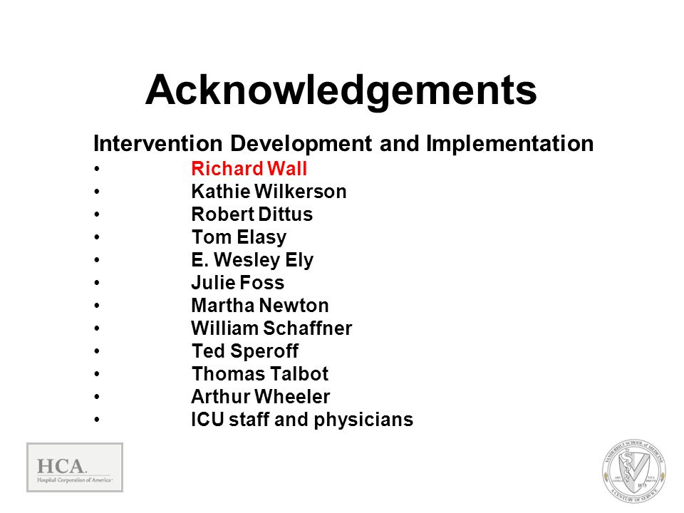 Acknowledgements Intervention Development and Implementation