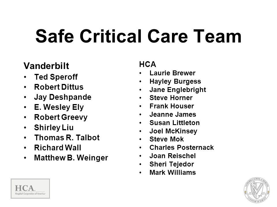 Safe Critical Care Team