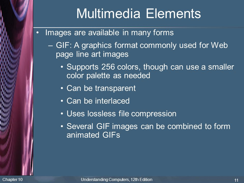 Multimedia Elements Images are available in many forms