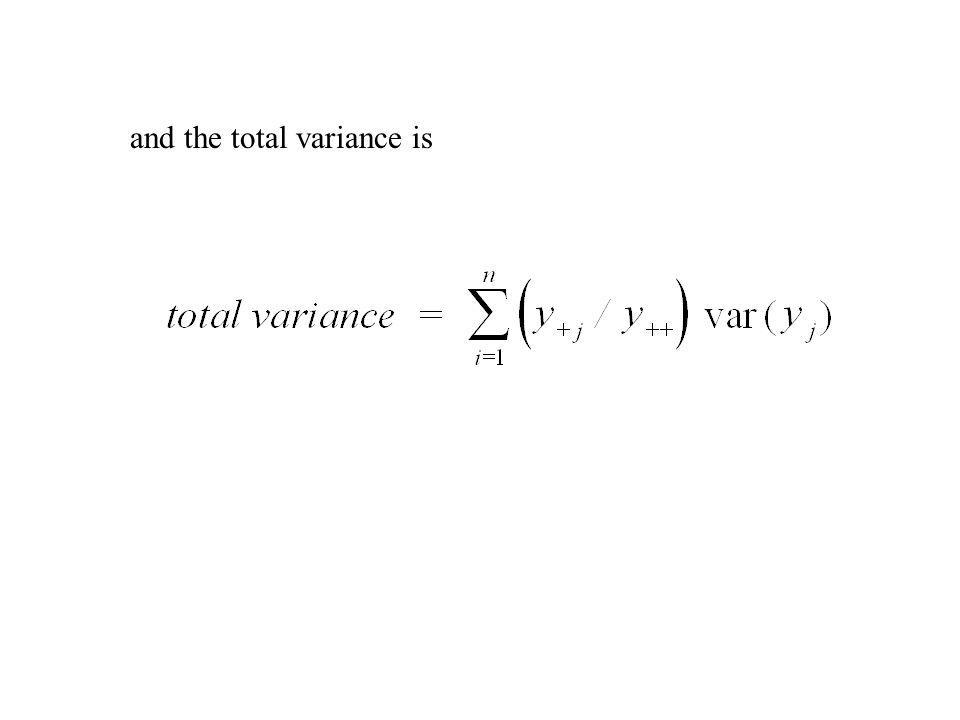 and the total variance is