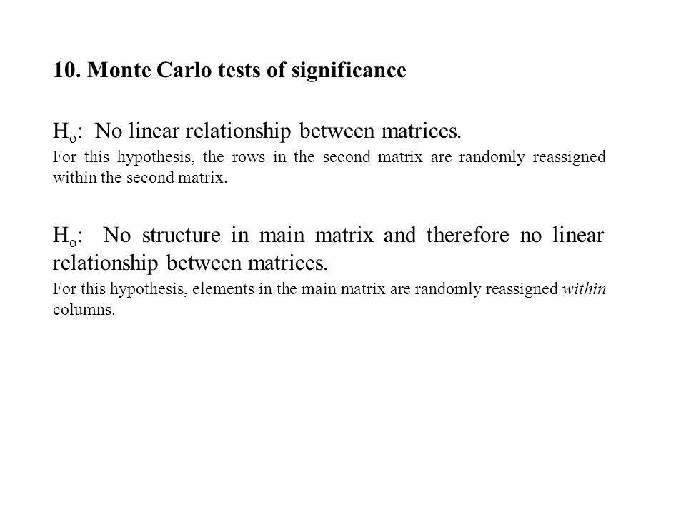10. Monte Carlo tests of significance