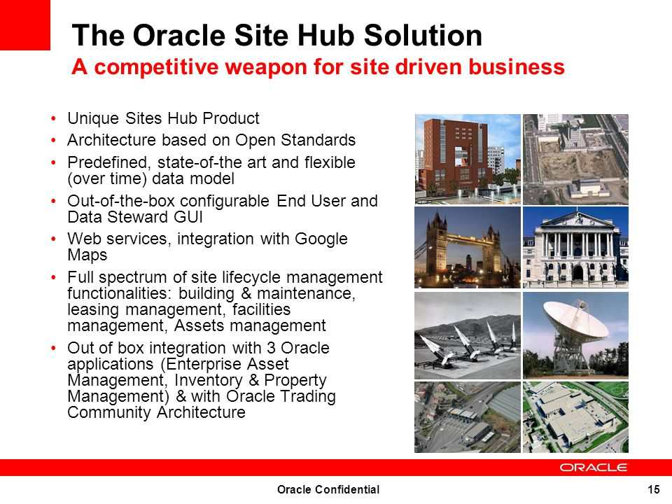 The Oracle Site Hub Solution A competitive weapon for site driven business