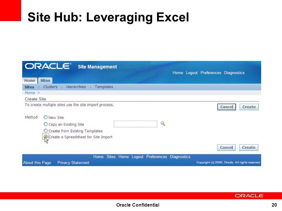 Site Hub: Leveraging Excel