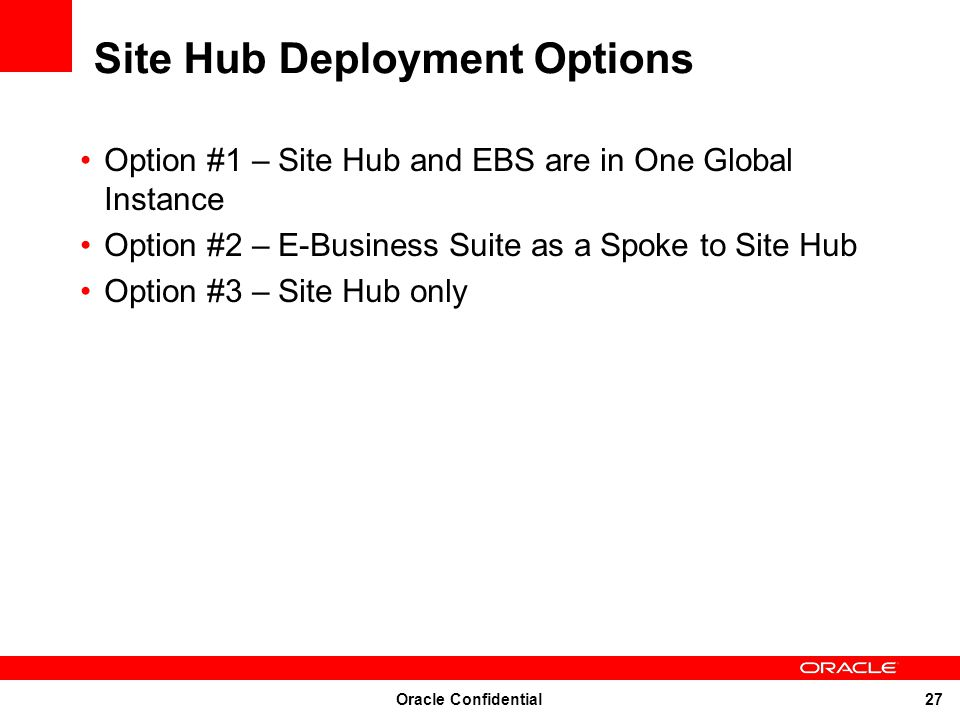 Site Hub Deployment Options