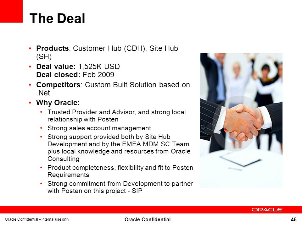 The Deal Products: Customer Hub (CDH), Site Hub (SH)