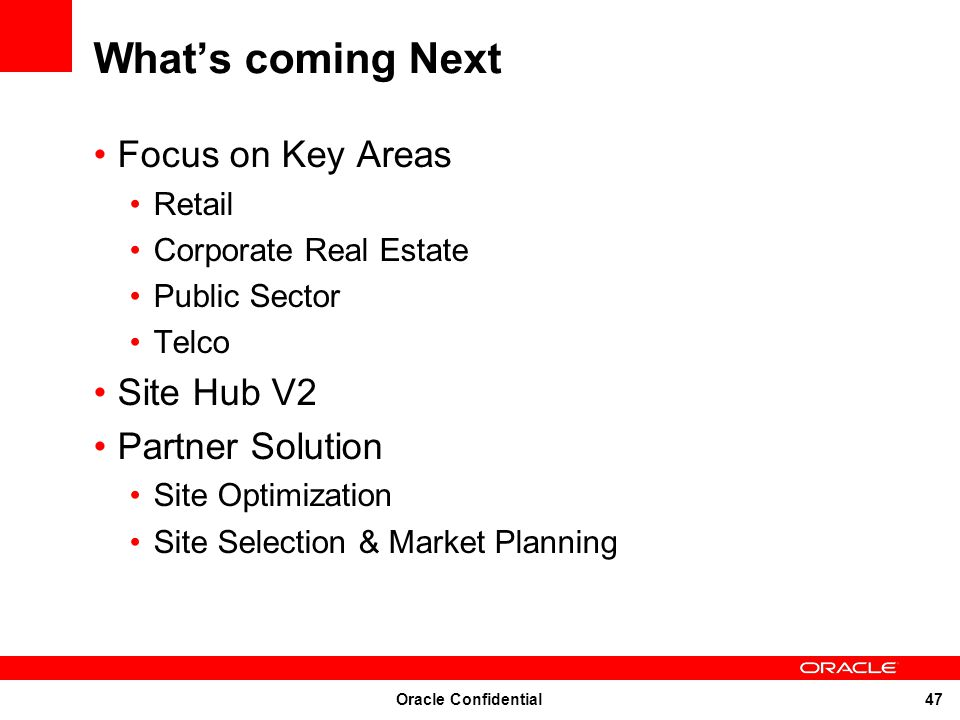 What's coming Next Focus on Key Areas Site Hub V2 Partner Solution