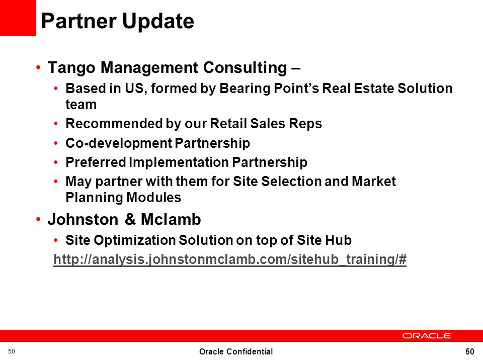Partner Update Tango Management Consulting – Johnston & Mclamb