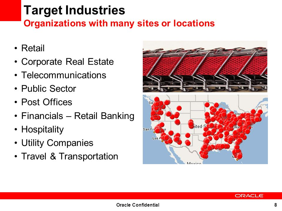 Target Industries Organizations with many sites or locations