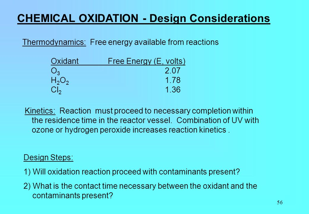 CHEMICAL OXIDATION - Design Considerations