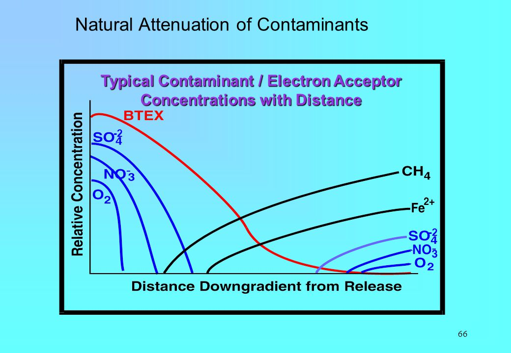 Typical Contaminant / Electron Acceptor Concentrations with Distance