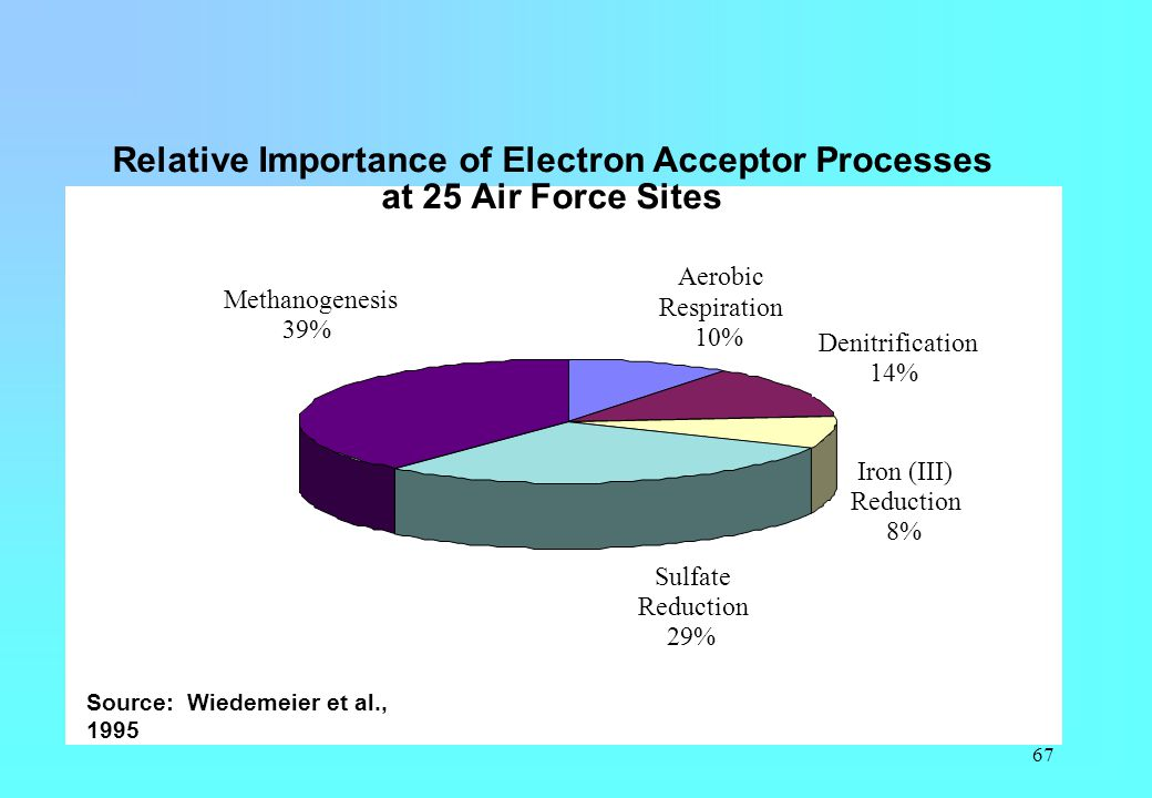 Relative Importance of Electron Acceptor Processes at 25 Air Force Sites