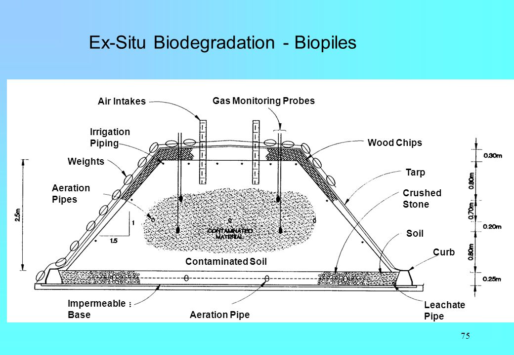 Ex-Situ Biodegradation - Biopiles