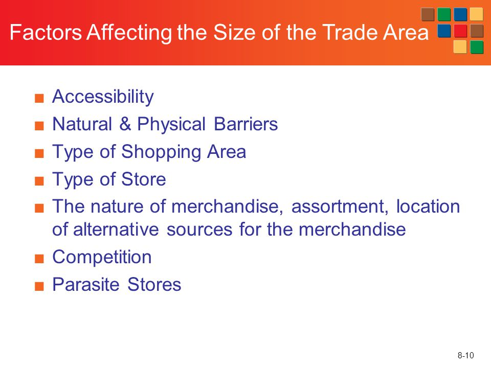 Factors Affecting the Size of the Trade Area