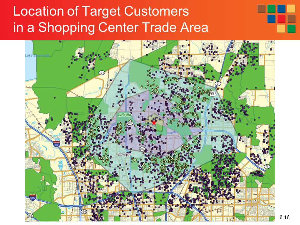 Location of Target Customers in a Shopping Center Trade Area
