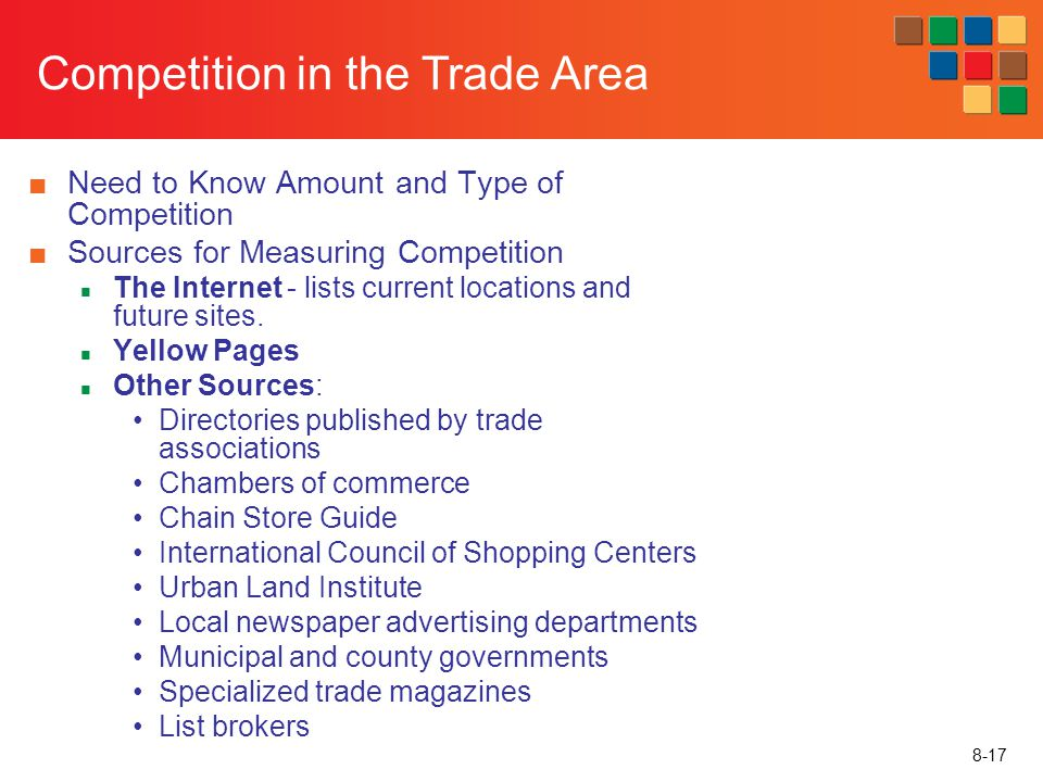 Competition in the Trade Area
