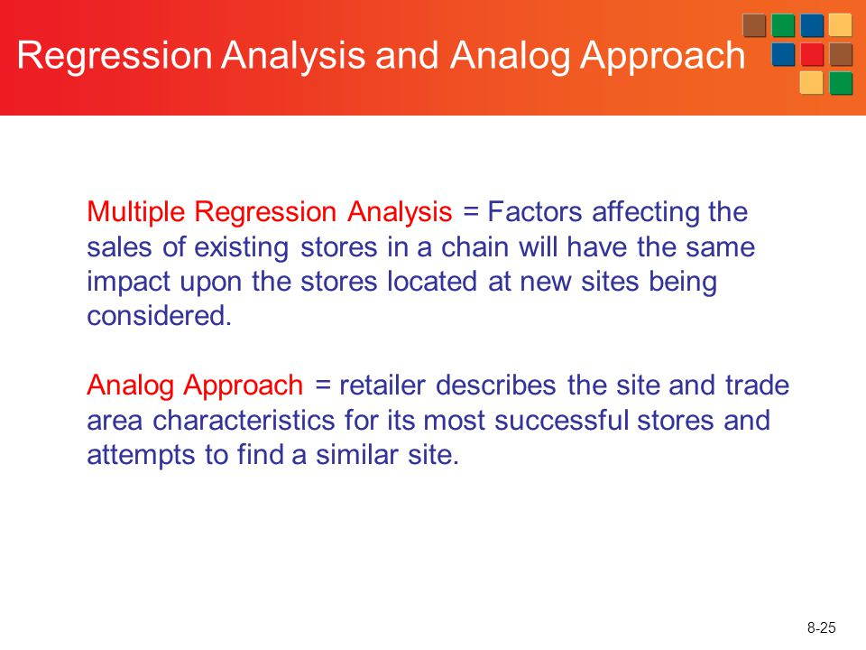 Regression Analysis and Analog Approach