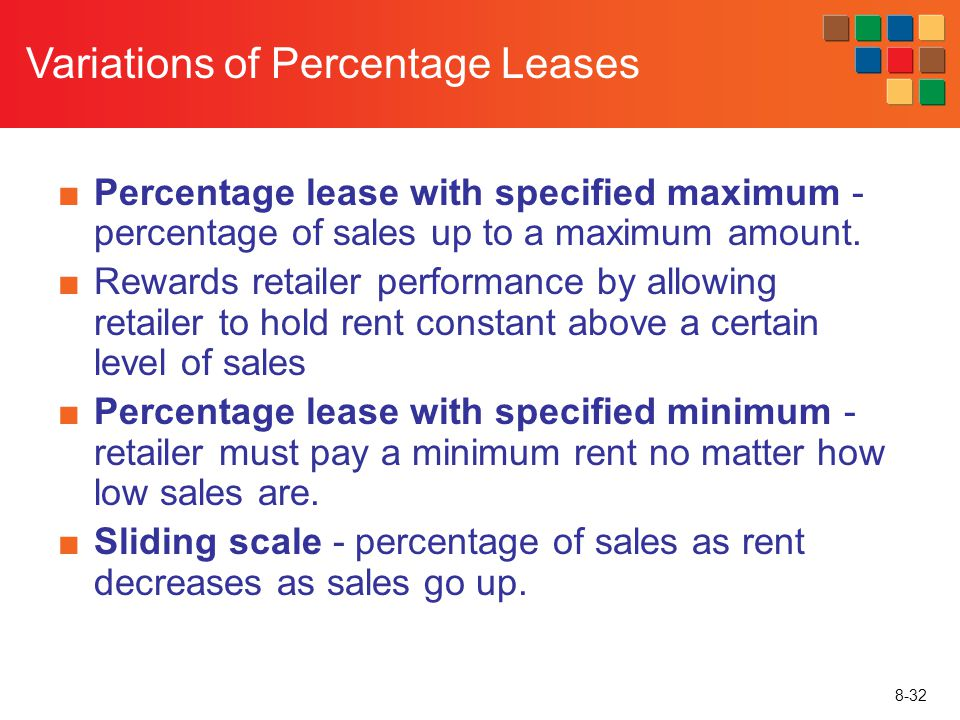 Variations of Percentage Leases