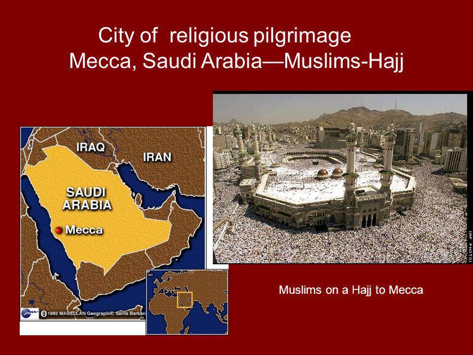 City of religious pilgrimage Mecca, Saudi Arabia—Muslims-Hajj