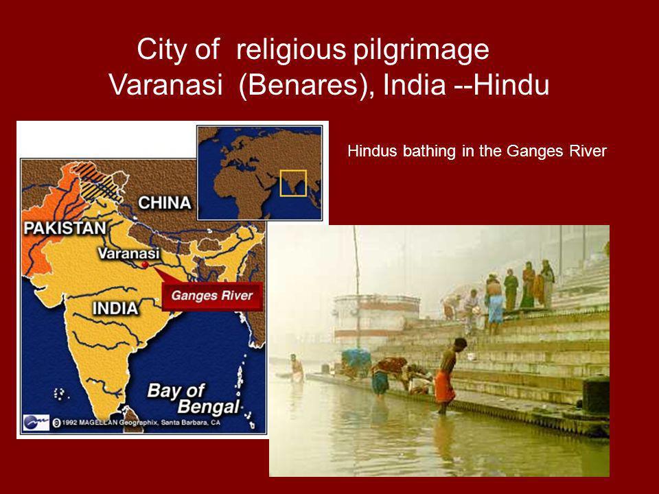 City of religious pilgrimage Varanasi (Benares), India --Hindu