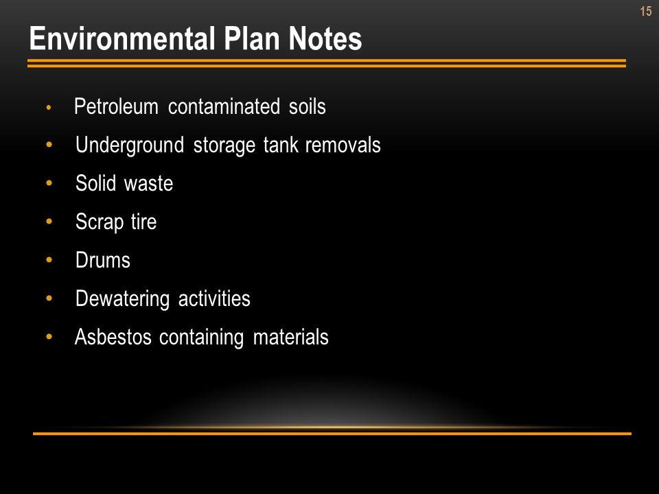 Environmental Plan Notes