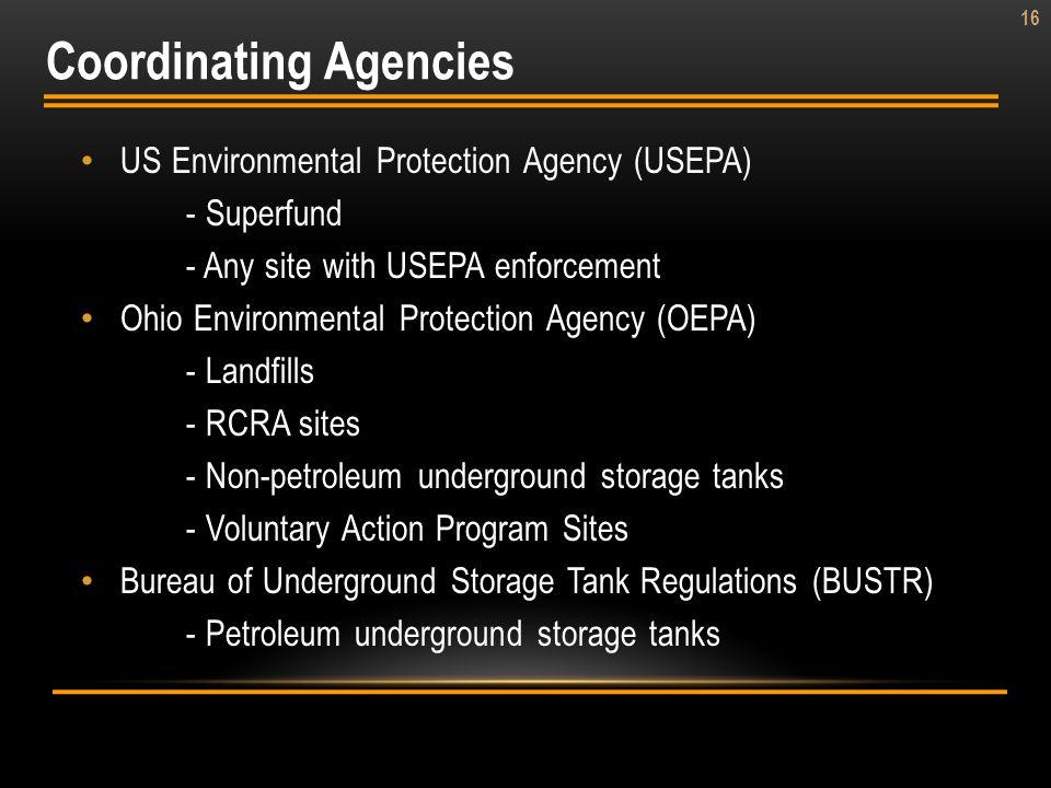 Coordinating Agencies
