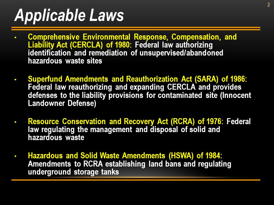 Applicable Laws