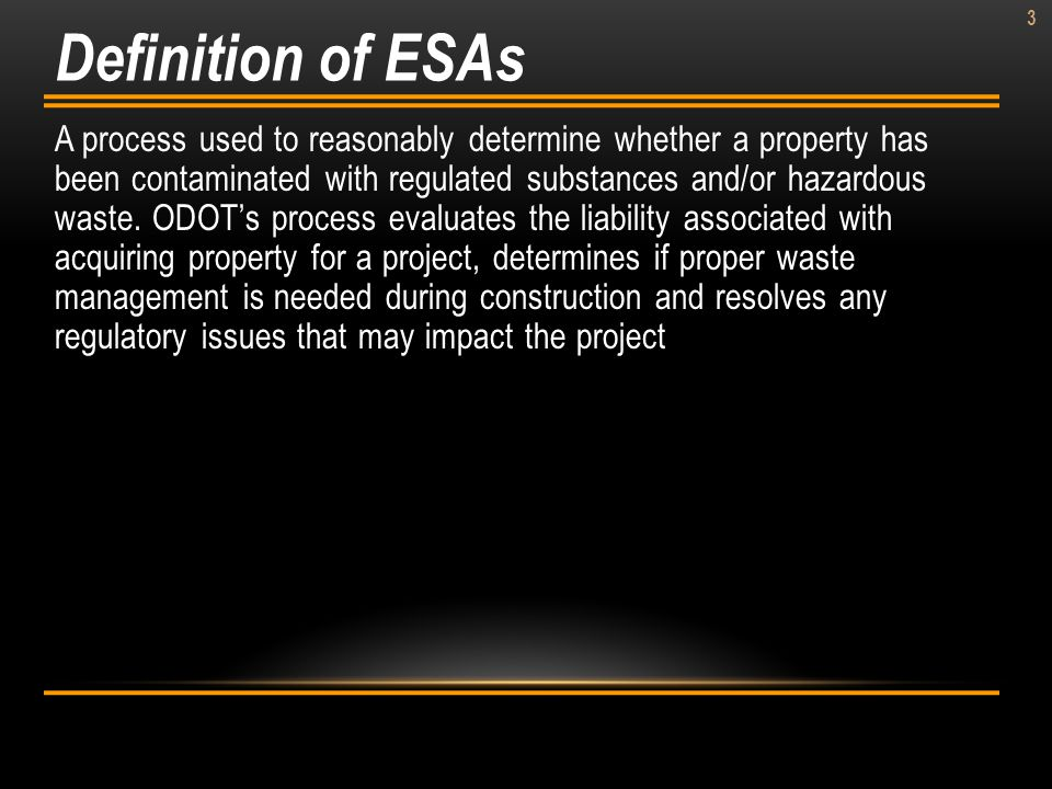 Definition of ESAs
