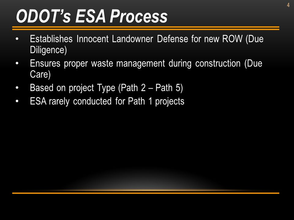 ODOT's ESA Process Establishes Innocent Landowner Defense for new ROW (Due Diligence)