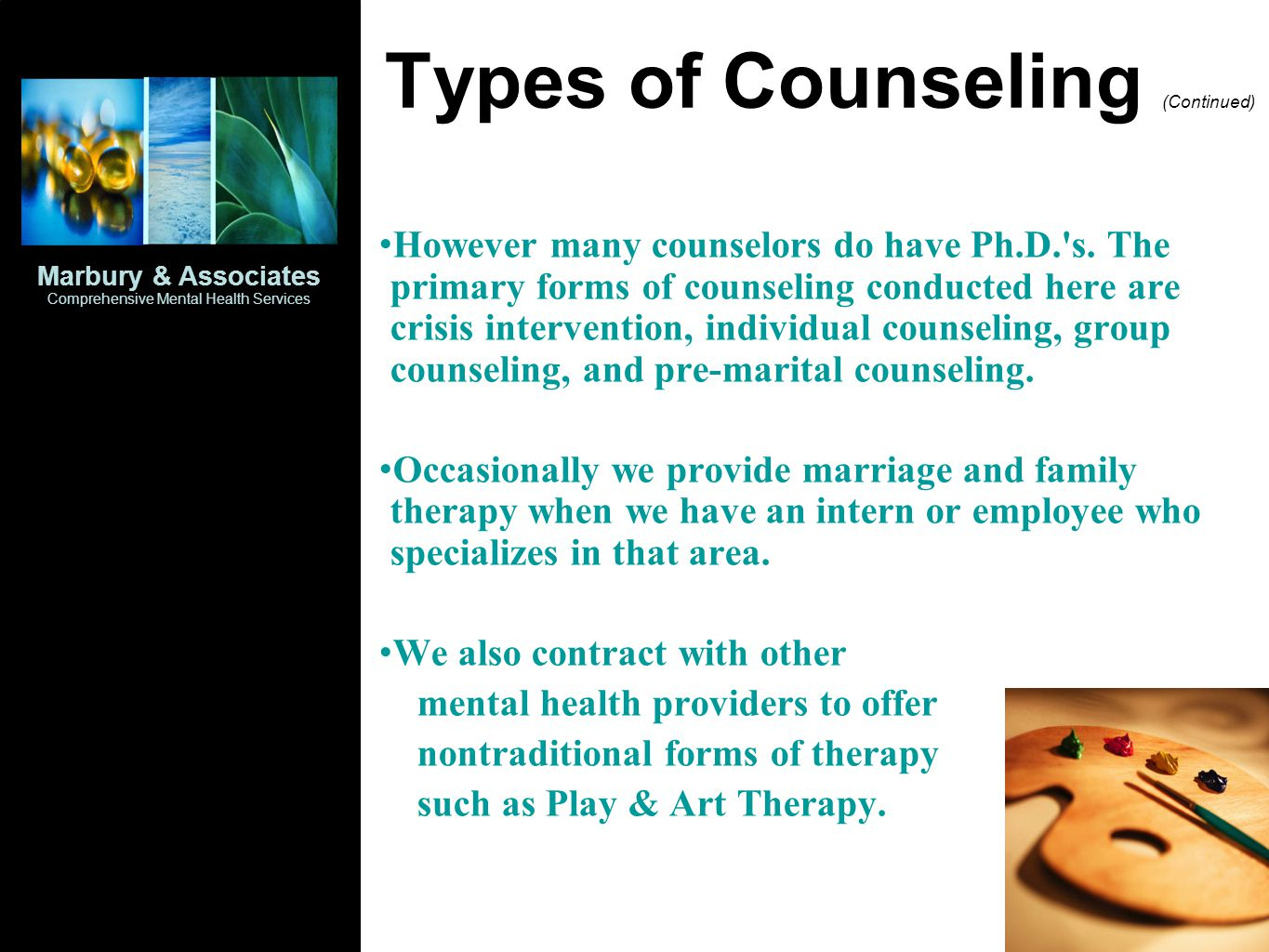 Types of Counseling (Continued)