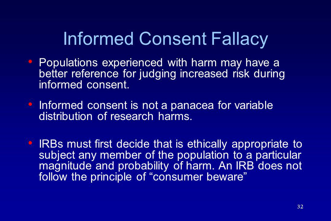 Informed Consent Fallacy
