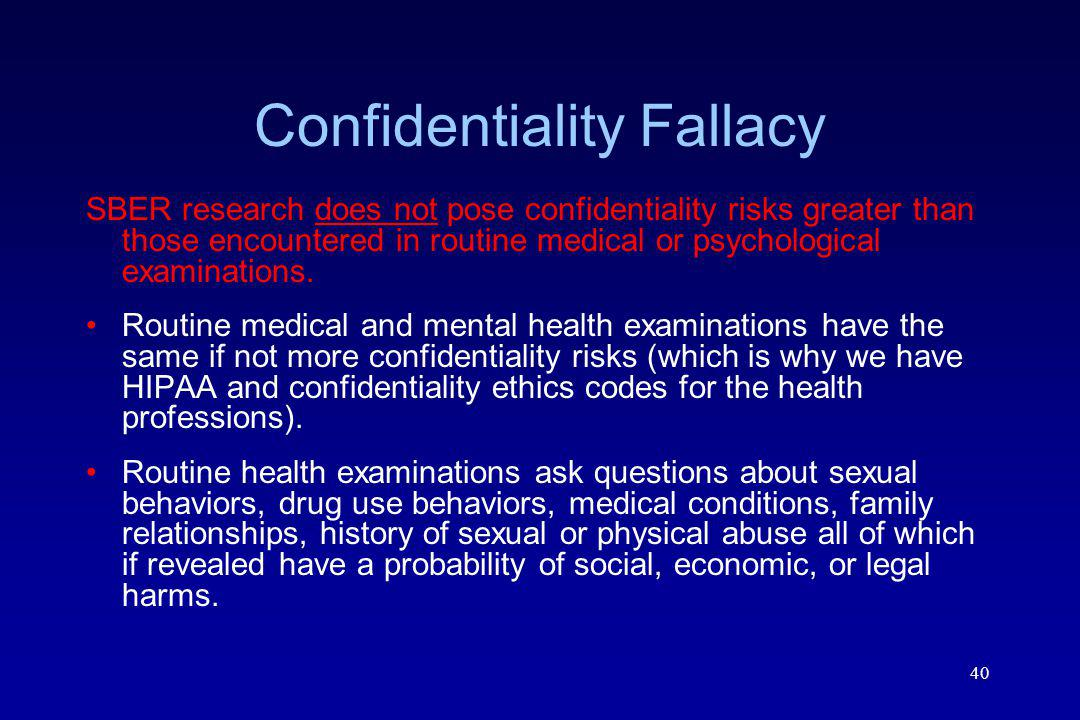 Confidentiality Fallacy