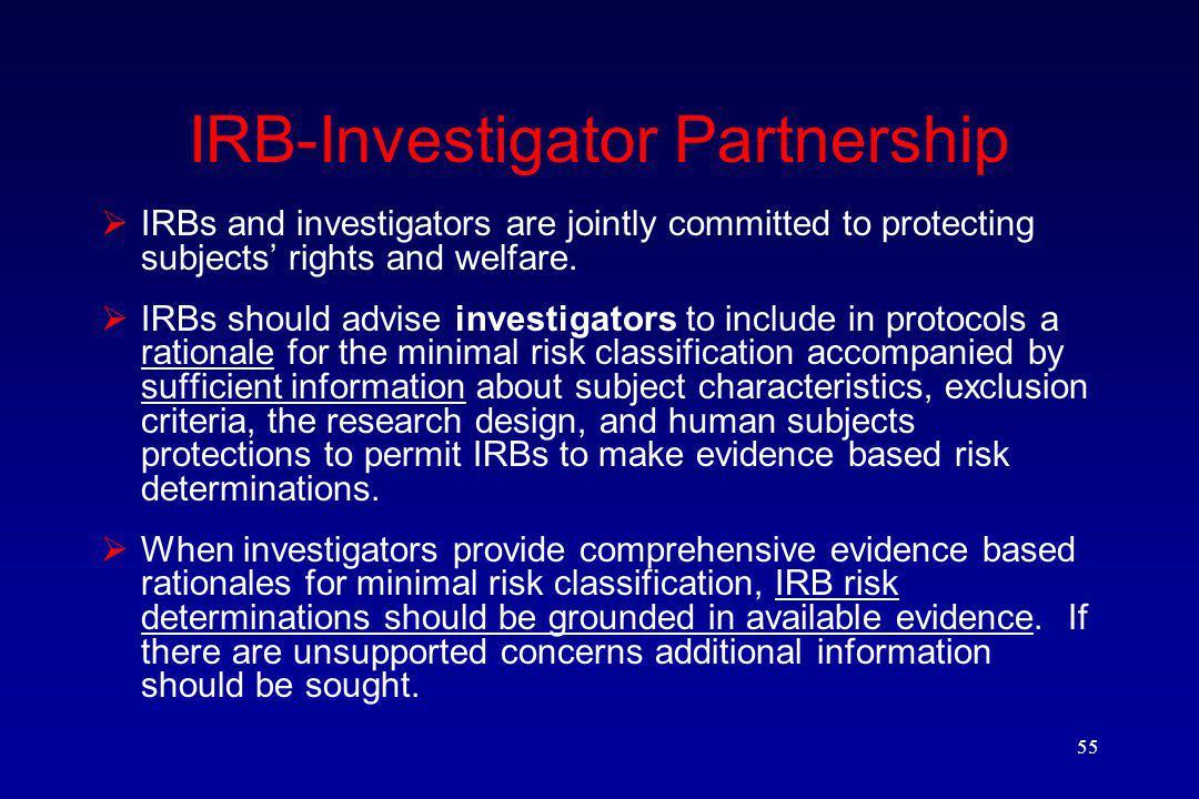 IRB-Investigator Partnership
