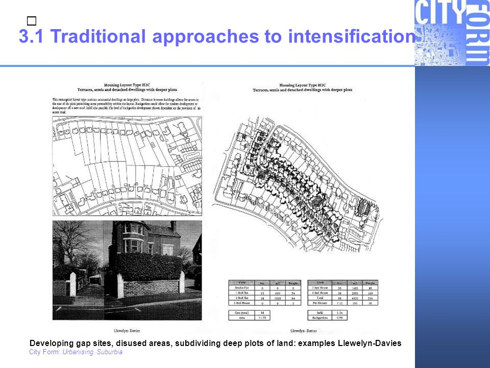 3.1 Traditional approaches to intensification