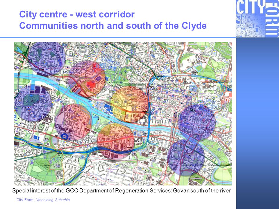 City centre - west corridor Communities north and south of the Clyde