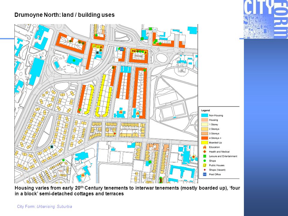 Drumoyne North: land / building uses