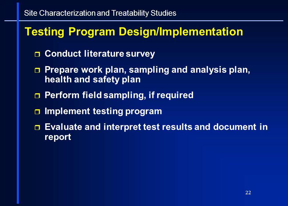 Testing Program Design/Implementation