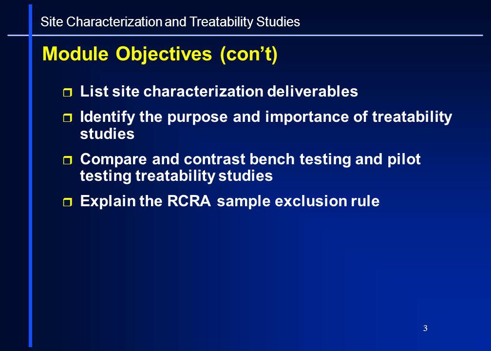 Module Objectives (con't)