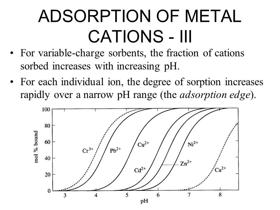 ADSORPTION OF METAL CATIONS - III