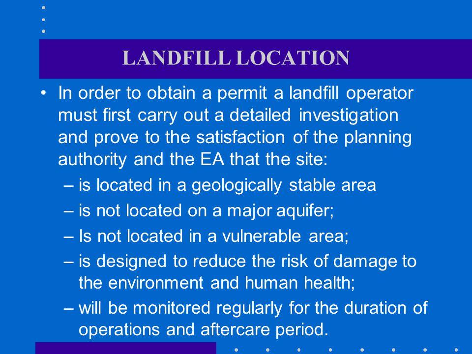 LANDFILL LOCATION