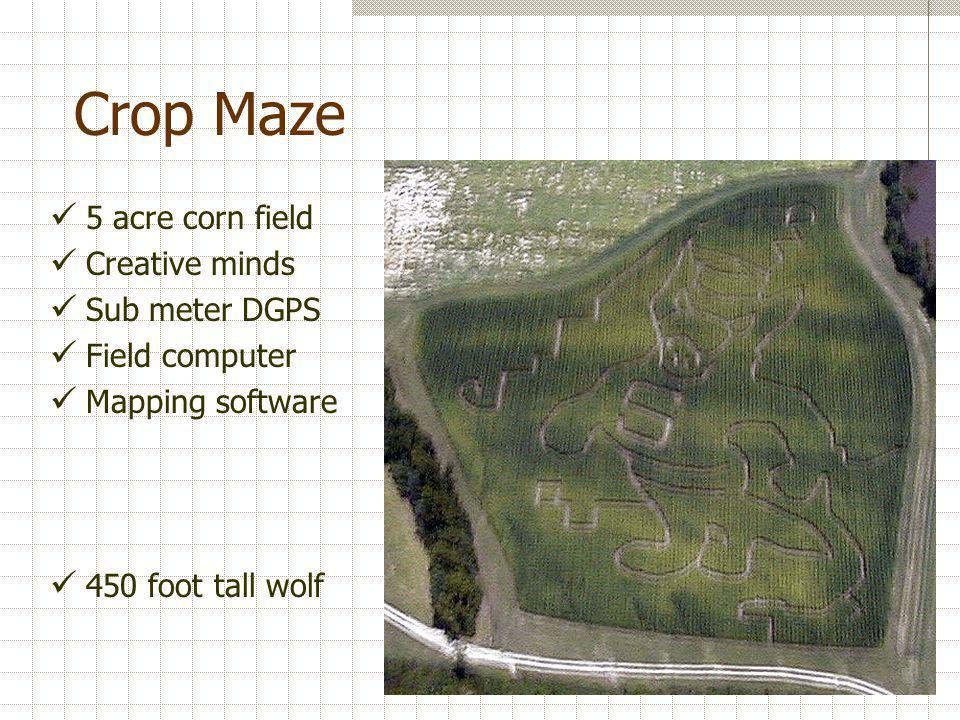 Crop Maze 5 acre corn field Creative minds Sub meter DGPS