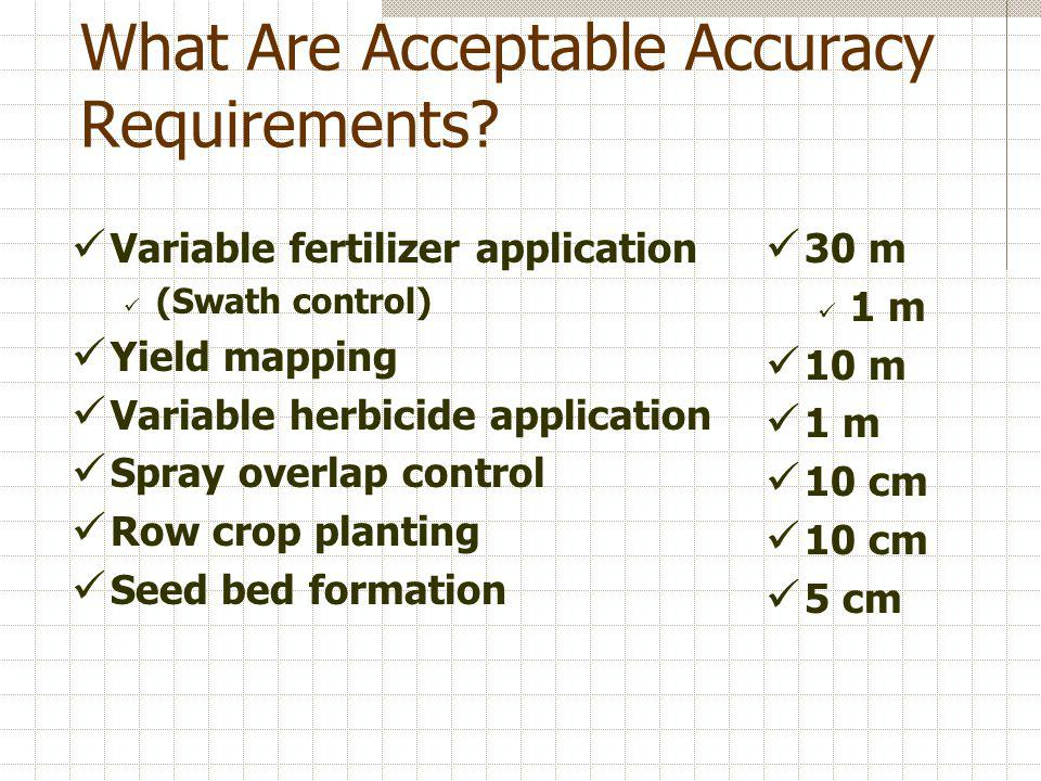What Are Acceptable Accuracy Requirements