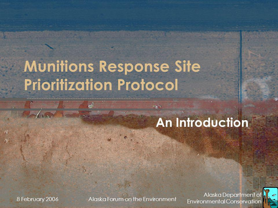 Munitions Response Site Prioritization Protocol