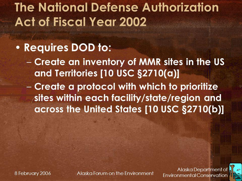 The National Defense Authorization Act of Fiscal Year 2002