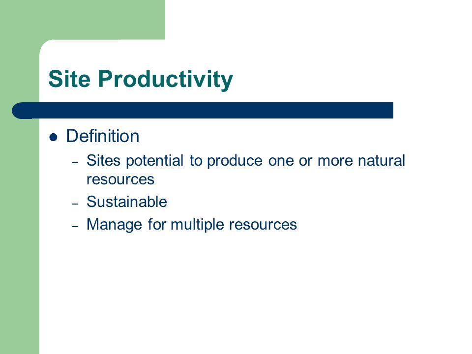 Site Productivity Definition