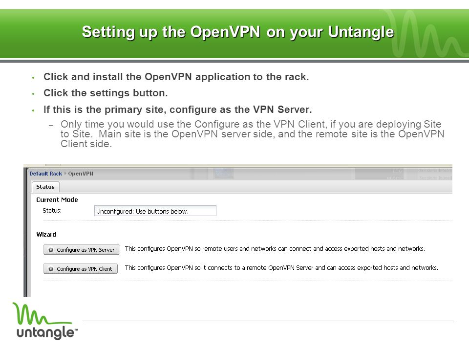 Setting up the OpenVPN on your Untangle