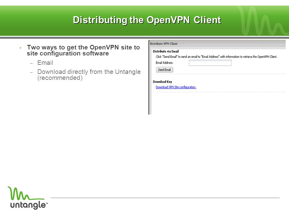 Distributing the OpenVPN Client