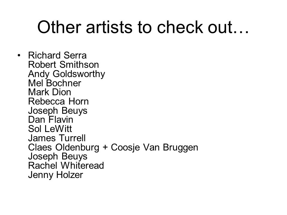 Other artists to check out…
